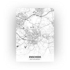 Enschede print - Zwart Wit stijl