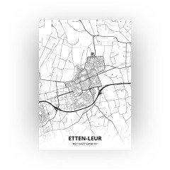 Etten-Leur print - Zwart Wit stijl