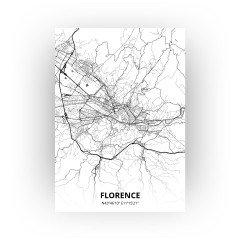 florence print - Zwart Wit stijl