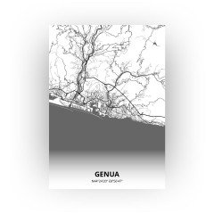 Genua print - Zwart Wit stijl