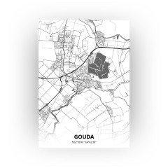 Gouda print - Zwart Wit stijl