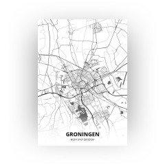 Groningen print - Zwart Wit stijl