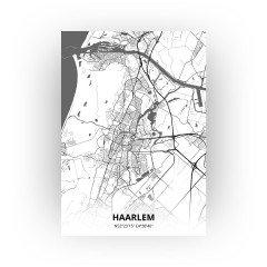 Haarlem print - Zwart Wit stijl