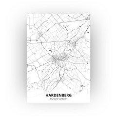 Hardenberg print - Zwart Wit stijl