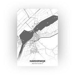 Harderwijk print - Zwart Wit stijl