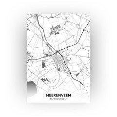 Heerenveen print - Zwart Wit stijl