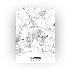Helmond print - Zwart Wit stijl