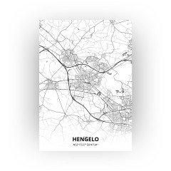 Hengelo print - Zwart Wit stijl
