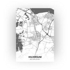 Hilversum print - Zwart Wit stijl
