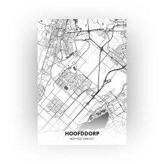 Hoofddorp print - Zwart Wit stijl
