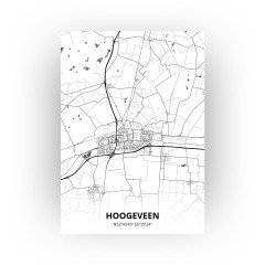 Hoogeveen print - Zwart Wit stijl