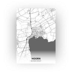 Hoorn print - Zwart Wit stijl