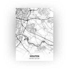 Houten print - Zwart Wit stijl