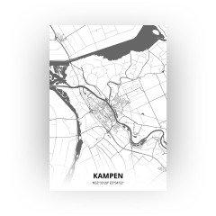 Kampen print - Zwart Wit stijl