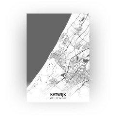 Katwijk print - Zwart Wit stijl