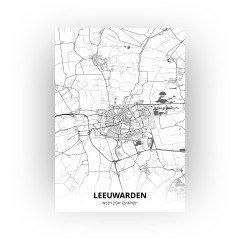 Leeuwarden print - Zwart Wit stijl
