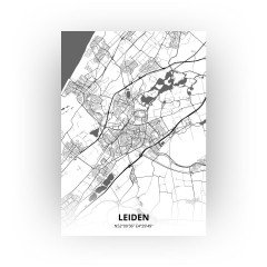 Leiden print - Zwart Wit stijl