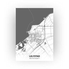 Lelystad print - Zwart Wit stijl