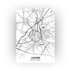 Leuven print - Zwart Wit stijl