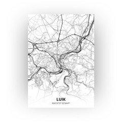 Luik print - Zwart Wit stijl