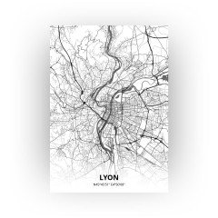 Lyon print - Zwart Wit stijl