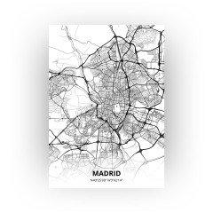 Madrid print - Zwart Wit stijl