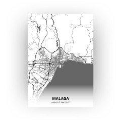 Malaga print - Zwart Wit stijl
