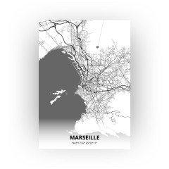 Marseille print - Zwart Wit stijl