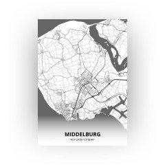 Middelburg print - Zwart Wit stijl