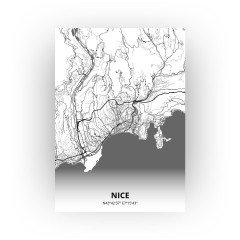 Nice print - Zwart Wit stijl