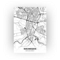 Nieuwegein print - Zwart Wit stijl