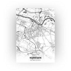 Nijmegen print - Zwart Wit stijl