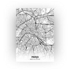 Parijs print - Zwart Wit stijl