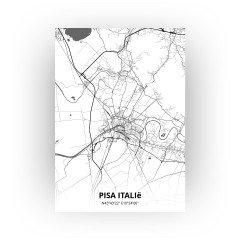 Pisa Italië print - Zwart Wit stijl