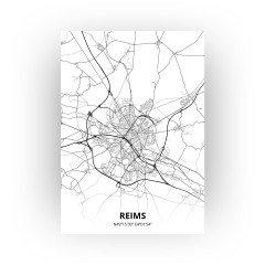 Reims print - Zwart Wit stijl