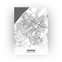 Rijswijk print - Zwart Wit stijl