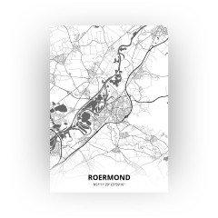 Roermond print - Zwart Wit stijl