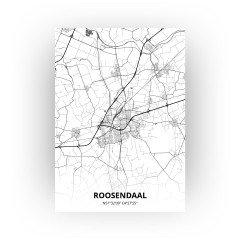 Roosendaal print - Zwart Wit stijl