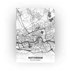 Rotterdam print - Zwart Wit stijl