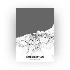 San Sebastian print - Zwart Wit stijl