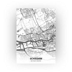 Schiedam print - Zwart Wit stijl