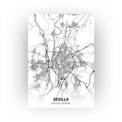 Sevilla print - Zwart Wit stijl