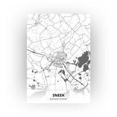 Sneek print - Zwart Wit stijl