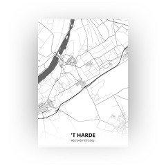 't Harde print - Zwart Wit stijl