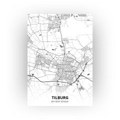 Tilburg print - Zwart Wit stijl