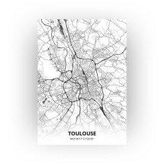 Toulouse print - Zwart Wit stijl