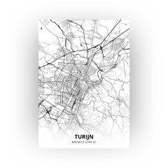 Turijn print - Zwart Wit stijl