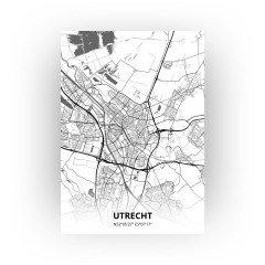 Utrecht print - Zwart Wit stijl