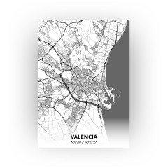 Valencia print - Zwart Wit stijl