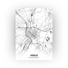 Venlo print - Zwart Wit stijl